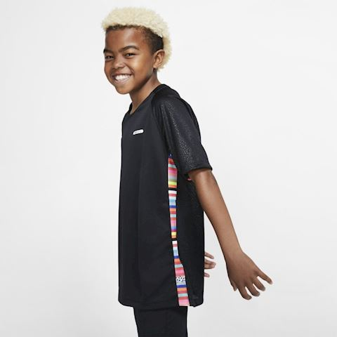 Nike Dri-FIT Mercurial Older Kids' Short-Sleeve Football Top - Black Image 3