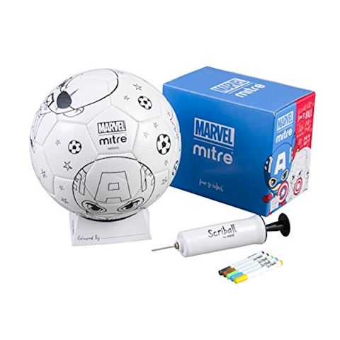 Mitre Marvel Captain America Scriball Colouring Football Image