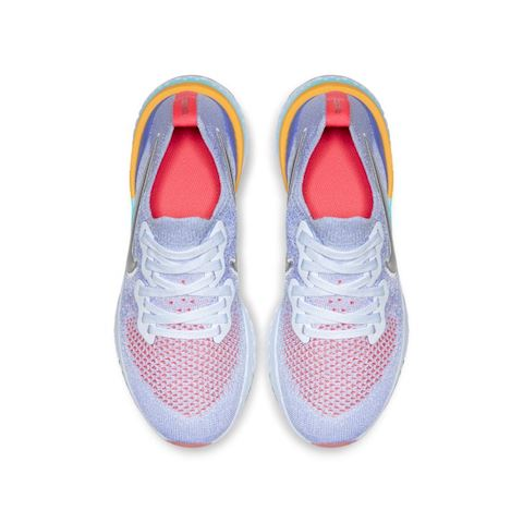 659cc4c9bbce0 Nike Epic React Flyknit 2 Older Kids  Running Shoe - Blue Image 4