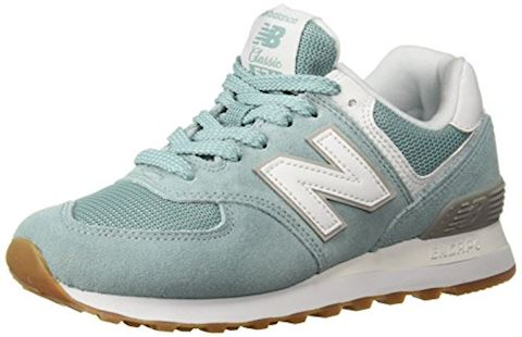 New Balance  WL574  women's Shoes (Trainers) in Blue Image