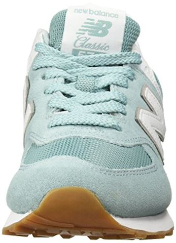 New Balance  WL574  women's Shoes (Trainers) in Blue Image 4