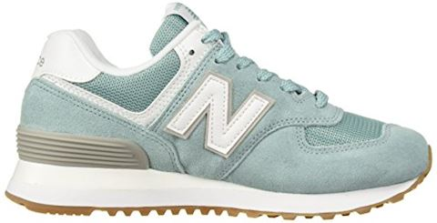 New Balance  WL574  women's Shoes (Trainers) in Blue Image 5