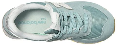 New Balance  WL574  women's Shoes (Trainers) in Blue Image 6