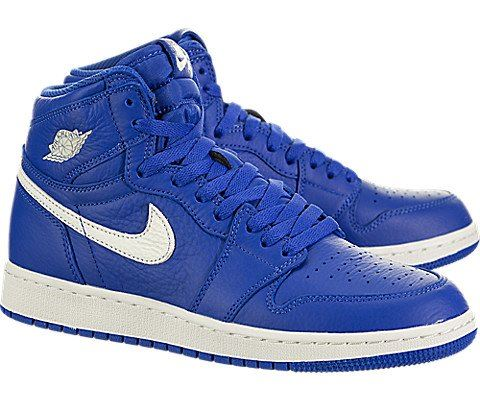 Nike Air Jordan 1 Retro High OG Older Kids' Shoe - Blue Image 2