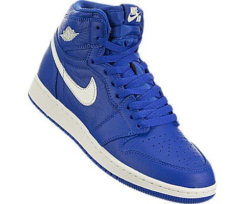 Nike Air Jordan 1 Retro High OG Older Kids' Shoe - Blue Image 5