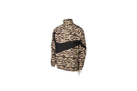 Nike Sportswear Swoosh Men's Half-Zip Packable Printed Jacket - Khaki Image