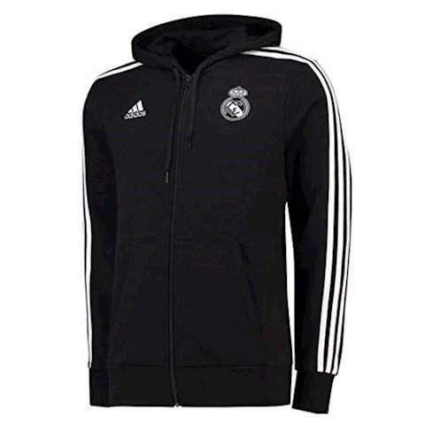 adidas Real Madrid Hoodie 3S FZ HD - Black/White Image