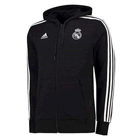 1d074478e1d7 adidas Real Madrid Hoodie 3S FZ HD - Black/White | CW8692 | FOOTY.COM