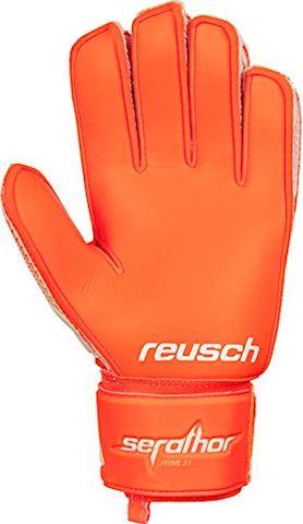 Reusch Goalkeeper Gloves Serathor Prime S1 - White/Shocking Orange Image 2