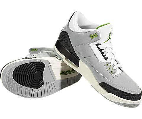 Nike Air Jordan 3 Retro Men's Shoe - Grey Image 3