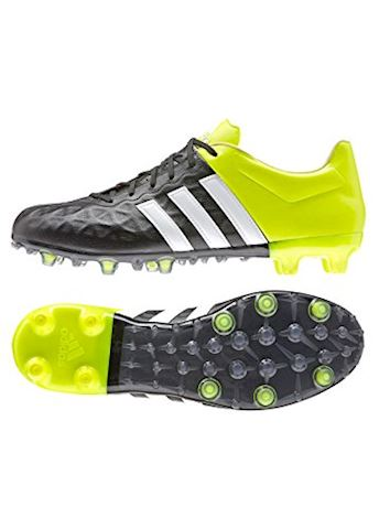 online store 2f748 346bd adidas ACE 15.2 FG AG Leather Core Black White Solar Yellow
