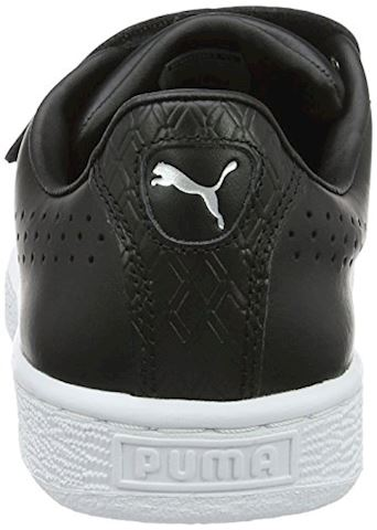 Puma Basket Classic Strap Black and White Trainers Image 2