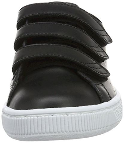 Puma Basket Classic Strap Black and White Trainers Image 4