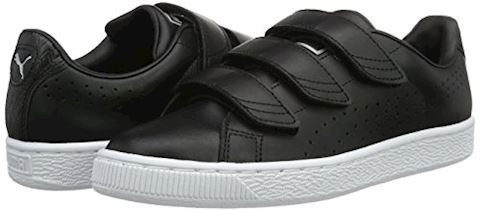 Puma Basket Classic Strap Black and White Trainers Image 5