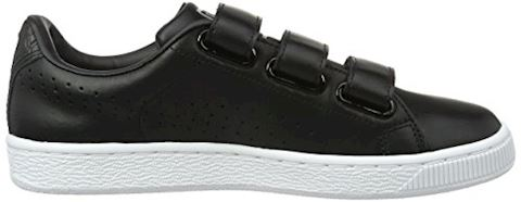 Puma Basket Classic Strap Black and White Trainers Image 6