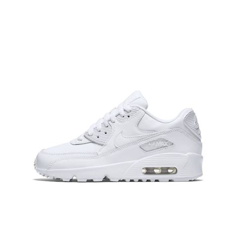 Nike Air Max 90 Leather Older Kids' Shoe White