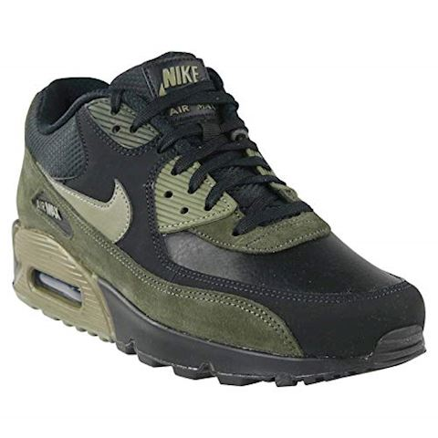 Nike Air Max 90 Leather Men's Shoe - Black Image 4