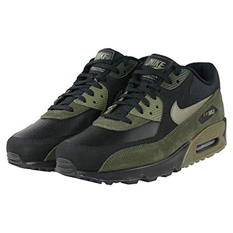 Nike Air Max 90 Leather Men's Shoe - Black Image 6