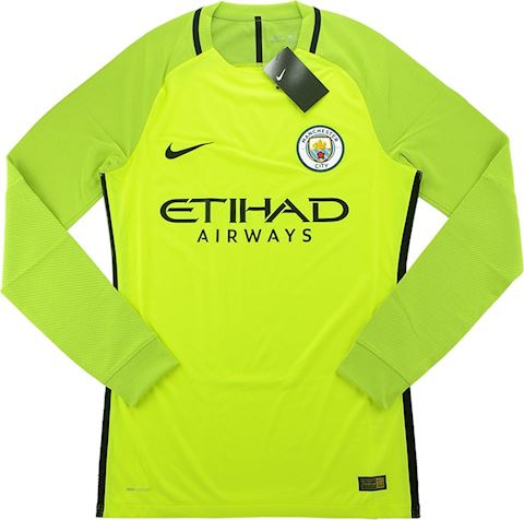 Nike Manchester City Mens LS Goalkeeper Player Issue Home Shirt 2016/17 Image