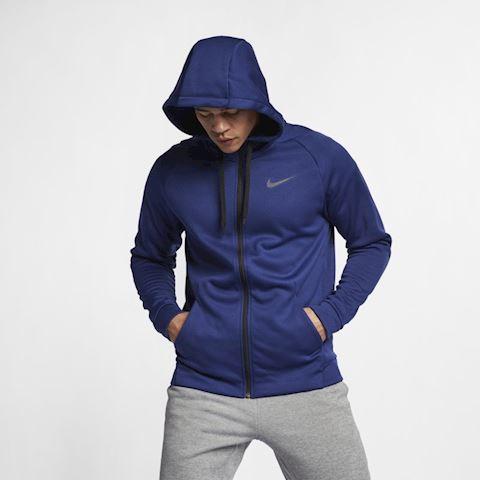 Nike Dri-FIT Therma Men's Full-Zip Training Hoodie - Blue Image