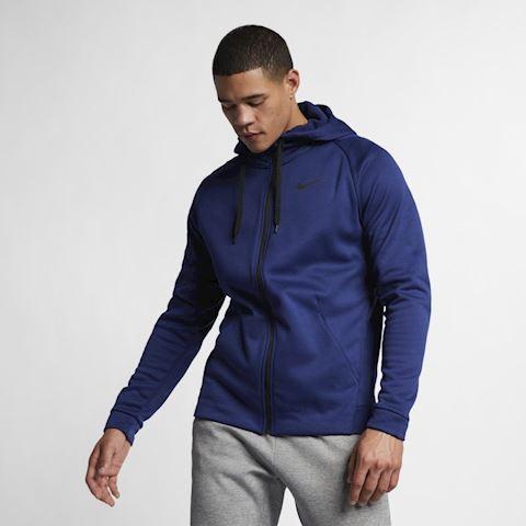 Nike Dri-FIT Therma Men's Full-Zip Training Hoodie - Blue Image 3