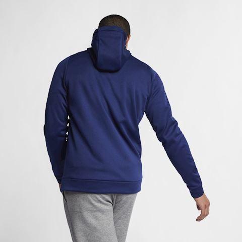Nike Dri-FIT Therma Men's Full-Zip Training Hoodie - Blue Image 4