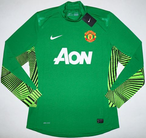 759e2a2c898 Nike Manchester United Mens LS Goalkeeper Player Issue Home Shirt 2011/12  Image