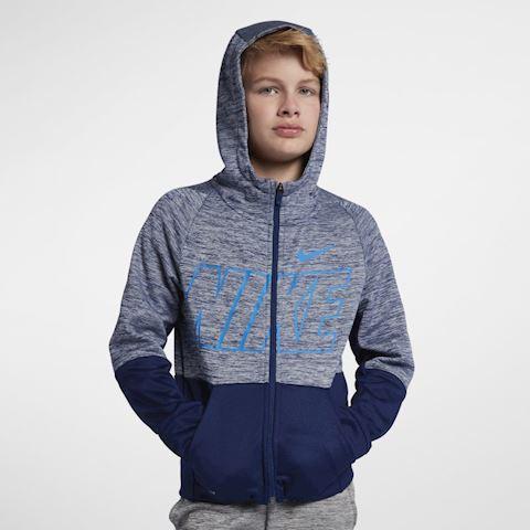 Nike Dri-FIT Therma Older Kids' (Boys') Full-Zip Training Hoodie - Blue Image