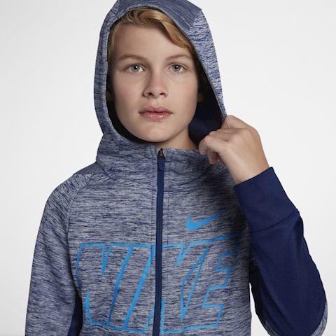 Nike Dri-FIT Therma Older Kids' (Boys') Full-Zip Training Hoodie - Blue Image 2