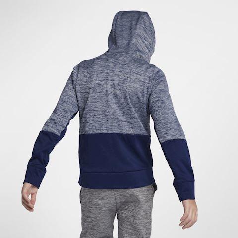Nike Dri-FIT Therma Older Kids' (Boys') Full-Zip Training Hoodie - Blue Image 3