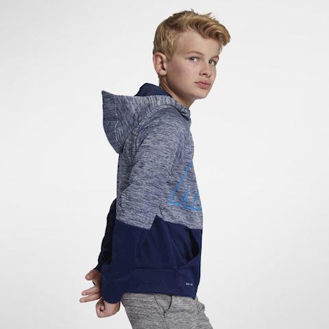 Nike Dri-FIT Therma Older Kids' (Boys') Full-Zip Training Hoodie - Blue Image 4