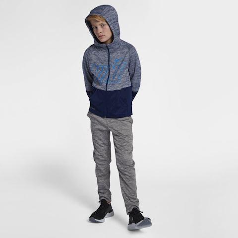 Nike Dri-FIT Therma Older Kids' (Boys') Full-Zip Training Hoodie - Blue Image 5