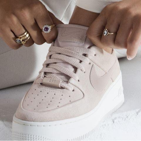 Nike Air Force 1 Sage Low Women's Shoe - Cream Image 2