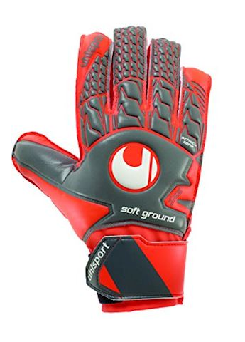 Uhlsport Goalkeeper Gloves AeroRed Soft Advanced - Dark Grey/Fluo Red/White Kids Image