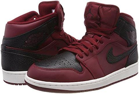 Nike Air Jordan 1 Mid Men's Shoe - Red Image 5
