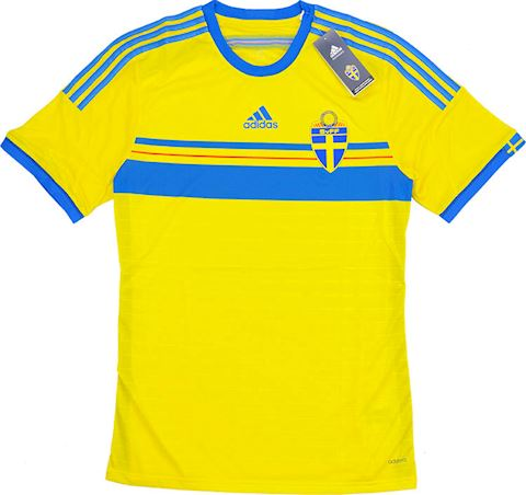 adidas Sweden Mens SS Player Issue Home Shirt 2014 Image