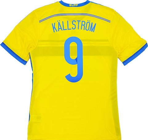adidas Sweden Mens SS Player Issue Home Shirt 2014 Image 3