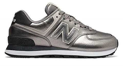 New Balance 574 Shoes Silver MetallicBlack