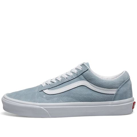 Vans Womens Old Skool (Pig Suede) Blue Fog True White
