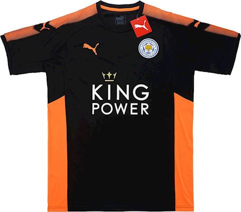 Puma Leicester City Mens SS Goalkeeper Player Issue Home Shirt 2017/18 Image