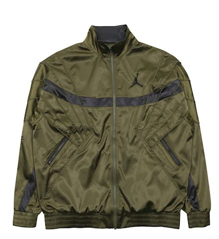 a07610c079bb0a Nike Air Jordan AJ5 Satin Jacket Olive Canvas   Black Image