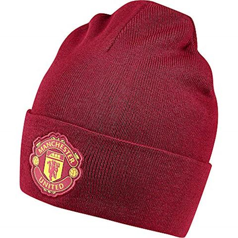 adidas Manchester United Beanie 3 Stripes - Real Red/Black Image