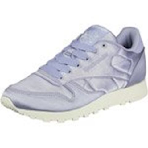 Reebok Classic  CLASSIC LEATHER SATIN  women's Shoes (Trainers) in Purple Image 2