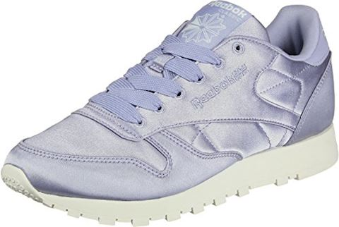 Reebok Classic  CLASSIC LEATHER SATIN  women's Shoes (Trainers) in Purple Image 3