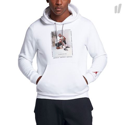 Nike Jordan AJ3 Flight Fleece Men's Pullover Hoodie - White Image