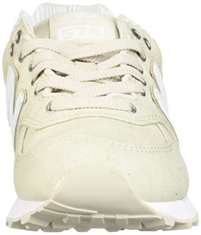New Balance  WL574  women's Shoes (Trainers) in Beige Image 4