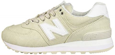 New Balance  WL574  women's Shoes (Trainers) in Beige Image 5