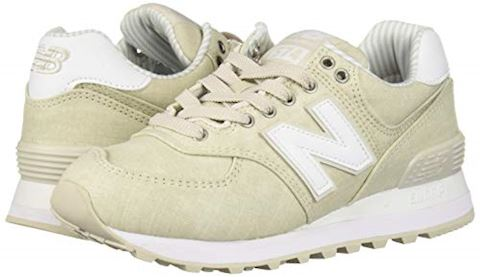 New Balance  WL574  women's Shoes (Trainers) in Beige Image 6