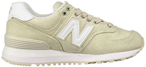 New Balance  WL574  women's Shoes (Trainers) in Beige Image 7