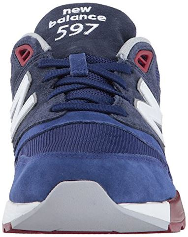 New Balance  ML597  men's Shoes (Trainers) in Blue Image 4